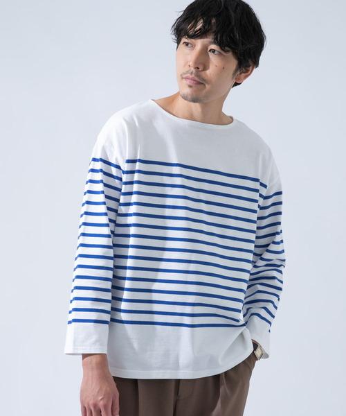 URBAN RESEARCH ROSSO MEN(アーバンリサーチロッソメン)の「フレンチボーダーバスクTシャツ(Tシャツ/カットソー)」 ブルー系その他