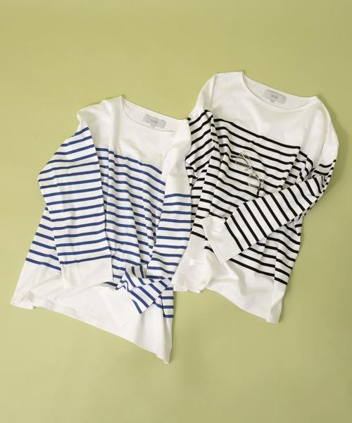URBAN RESEARCH ROSSO MEN(アーバンリサーチロッソメン)の「フレンチボーダーバスクTシャツ(Tシャツ/カットソー)」 詳細画像