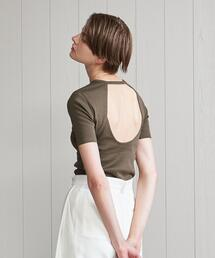 <H>COTTON  BARE BACK TOP/カットソー