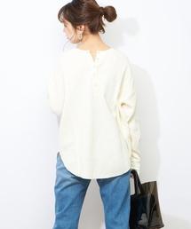 natural couture(ナチュラルクチュール)のワッフル2WAYビッグプルオーバー(Tシャツ/カットソー)
