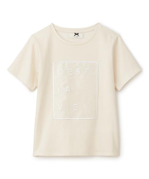 オーガンジーシシュウTシャツ