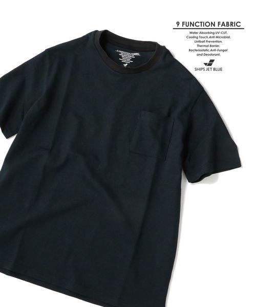【Begin6月号 p23掲載】SHIPS JET BLUE: 9FUNCTION【接触冷感・抗菌防臭etc..】カノコポケットTシャツ