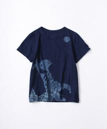 45R(フォーティファイブ・アール)のヤギと月プリントの45星Tシャツ(インディゴ)(Tシャツ/カットソー)