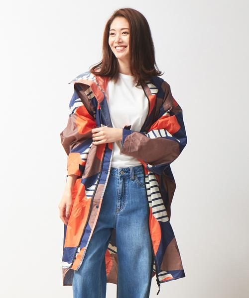 KiU(キウ)の「【KiU×collex】袖付ポンチョ(レインコート/ポンチョ)」 オレンジ