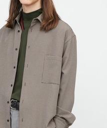 ブライトポプリンリラックススクエア レギュラーカラー シャツ(長袖)ベージュ系その他