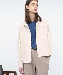 ブライトポプリンリラックススクエア レギュラーカラー シャツ(長袖)キナリ