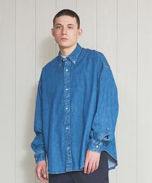 <H>BLUE DENIM BIG BD SHIRT/シャツ
