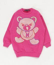 HYS BEAR刺繍 スウェット【XS/S/M】ピンク