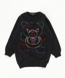 HYS BEAR刺繍 スウェット【XS/S/M】ブラック