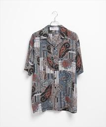 LEGENDA(レジェンダ)のORIENTAL PATTERN オープンカラー半袖シャツ(シャツ/ブラウス)