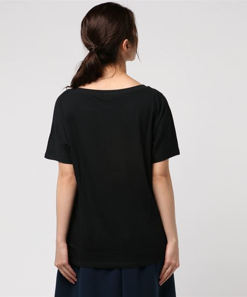 BENETTON (UNITED COLORS OF BENETTON)(ベネトンユナイテッドカラーズオブベネトン)の「文字プリントTシャツ?カットソー(Tシャツ/カットソー)」|詳細画像