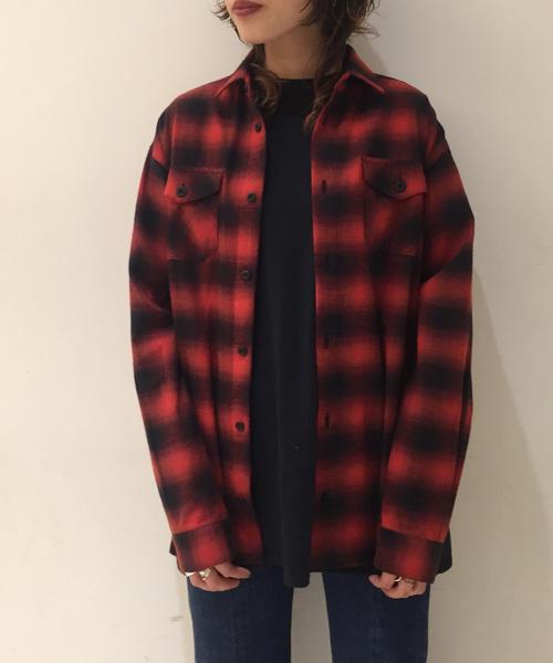 603 オンブレーチェックシャツ