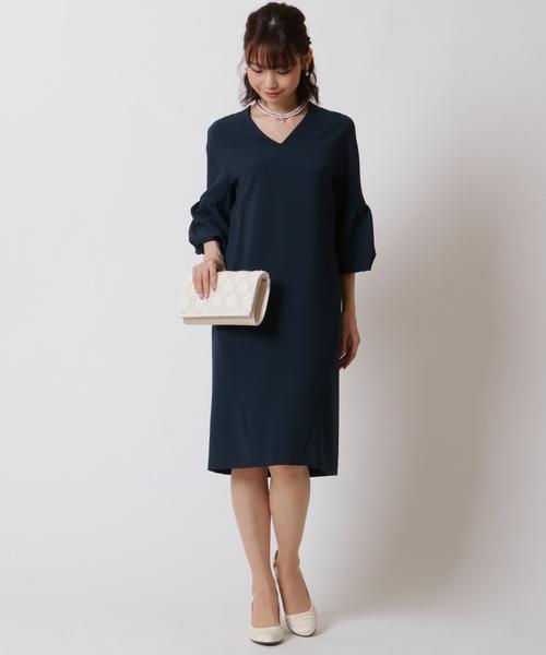素晴らしい価格 【セール】ベルスリーブ Vネックワンピース(ドレス)|form forma(フォルムフォルマ)のファッション通販, 佐伯郡:40155730 --- 5613dcaibao.eu.org
