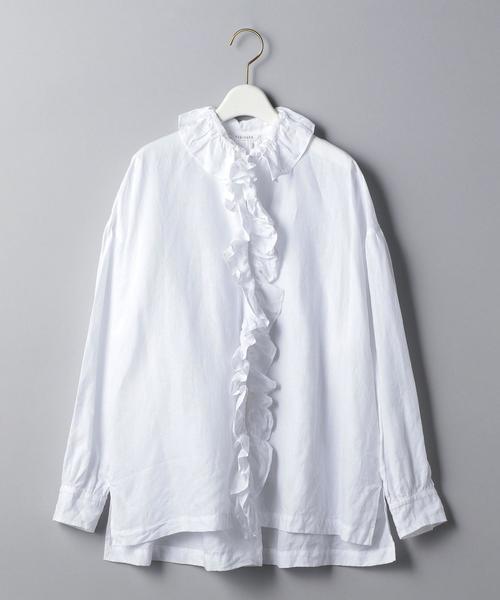 <TOUJOURS(トゥジュー)>ラッフル シャツ ■■■