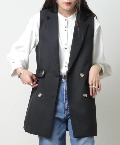 【 ZOZO限定 】テーラード ジャケットベスト MEI