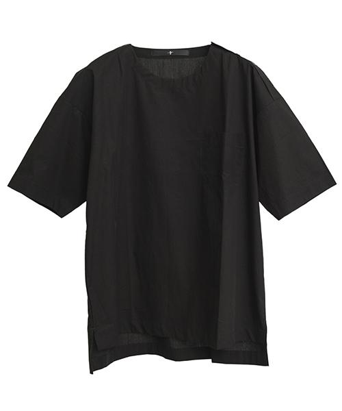 mhs1053-CクロスプルオーバーSH シャツ