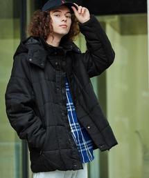 BARK MANHATTAN(バーク マンハッタン)の「フェイクウールスクエアキルティング中綿ジャケット / フード脱着 ブルゾン(ダウンジャケット/コート)」