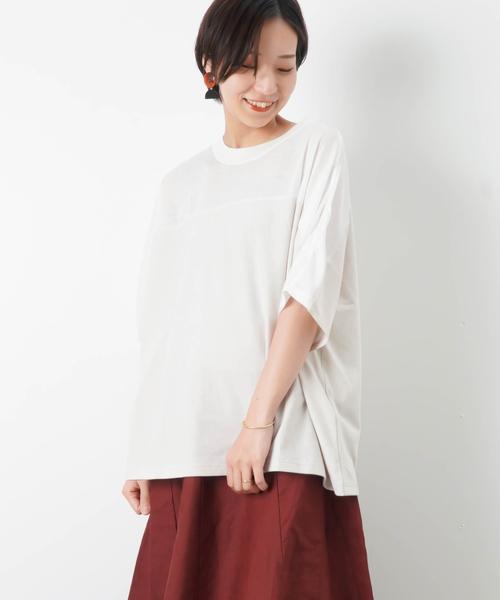 6fbcf8784f1 MAISON O+LUCA 切替ビッグTシャツ(Tシャツ/カットソー)|LUCA/LADY ...