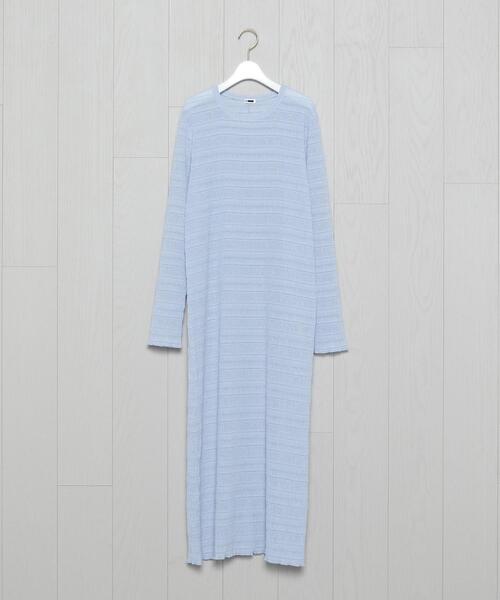 <H>SHEER LONG DRESS/ワンピース