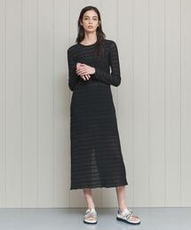 <H>SHEER LONG DRESS/ワンピース