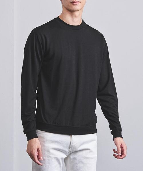 <UNITED ARROWS> ウォッシャブル ウール ロングスリーブ Tシャツ