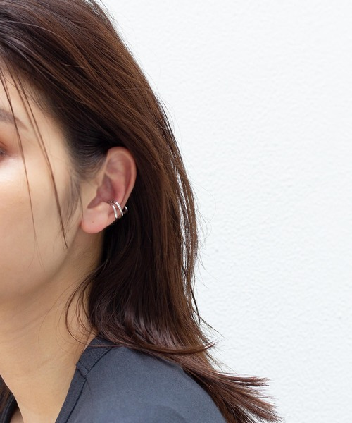 <CYCRO>SV925 片耳ホーククローラインイヤーカフ