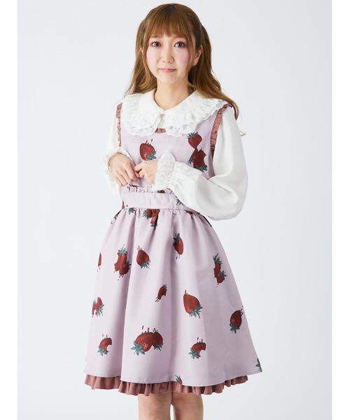 MELT STRAWBERRY ジャンパースカート