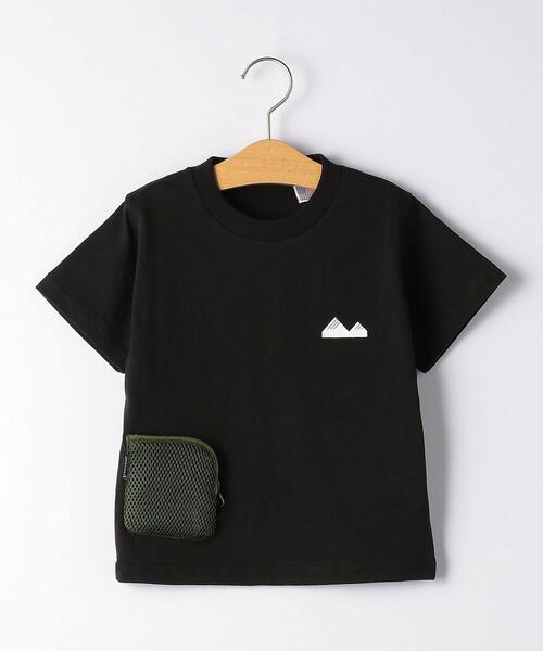 【キッズ】〔別注〕grn outdoor ポケットT マスク付き