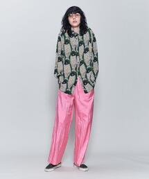 <6(ROKU)>NYLON SILK GATHER PANTS/パンツ