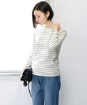 URBAN RESEARCH DOORS WOMENS | FORK&SPOON Color Border(Tシャツ・カットソー)