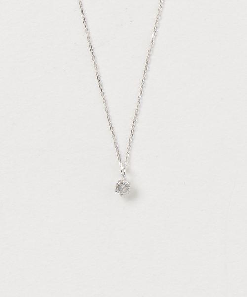 大きな取引 me.luxe【誕生石】K10WG 4月ダイヤモンド ネックレス, 木古内町 3c31397b