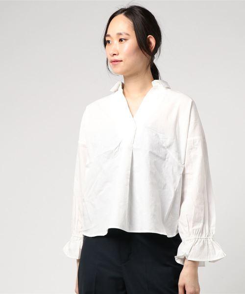 koe(コエ)の「袖リボンシャツ(シャツ/ブラウス)」|オフホワイト