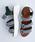 merlot(メルロー)の「カラーブロック厚底スポーツサンダル081-9015(サンダル)」|グリーン