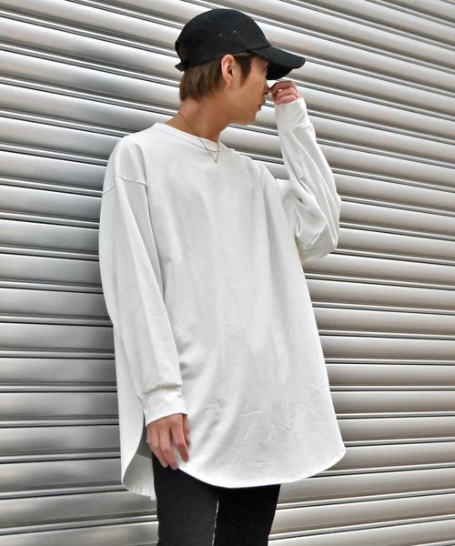 ビッグシルエット スリットロングTシャツ
