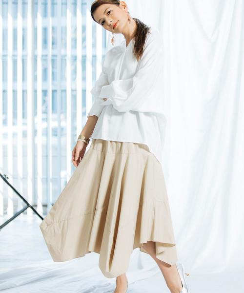 【スザンヌさん着用】綿フレアスカート