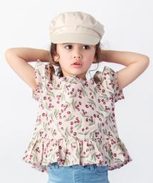 petit main(プティマイン)のチェリープリント半袖プルオーバー(Tシャツ/カットソー)