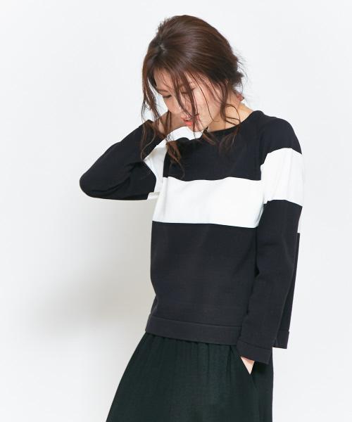 collex(コレックス)の古着「【NEI】長袖ニット(ニット/セーター)」|ブラック