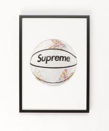 『Steph f Morris』Supreme×Spalding Basketball / シュプリーム×スポルディング ロゴ バスケットボール スニーカー  アート(ポスター/アート)