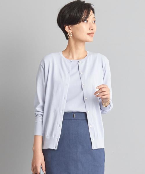 【WORK TRIP OUTFITS】★WTO D C/PE クルーネック カーディガン