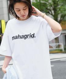 MAHAGRID/マハグリッド THIRD LOGO/BASIC LOGO  ロゴプリントオーバーサイズ半袖カットソーホワイト系その他