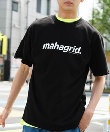 MAHAGRID/マハグリッド THIRD LOGO/BASIC LOGO  ロゴプリントオーバーサイズ半袖カットソーブラック系その他