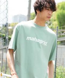 MAHAGRID/マハグリッド THIRD LOGO/BASIC LOGO  ロゴプリントオーバーサイズ半袖カットソーグリーン系その他
