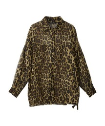 IN VIVID COLORS オーバーサイズシャツレオパード