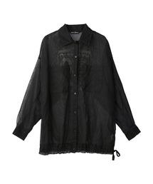 IN VIVID COLORS オーバーサイズシャツブラック