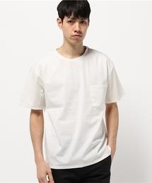 MORGAN HOMME(モルガンオム)のペーパーライクTシャツ (Tシャツ/カットソー)