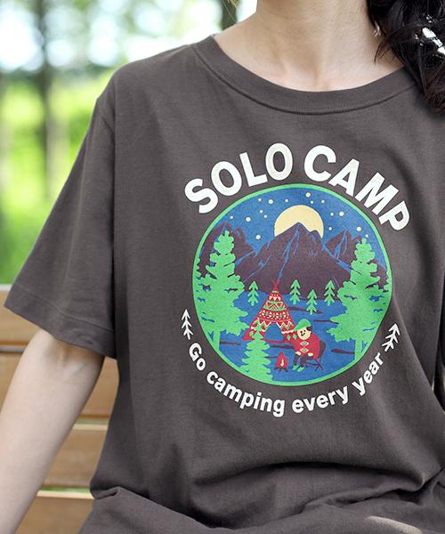 CAMPプリントTシャツ