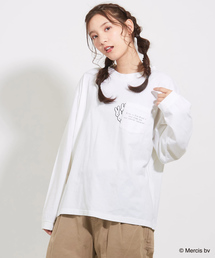 CUBE SUGAR(キューブシュガー)のミッフィーポケット付クルーTシャツ(Tシャツ/カットソー)