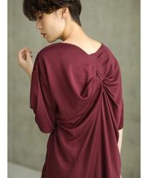 koe(コエ)の後ろねじりロングプルオーバー(Tシャツ/カットソー)