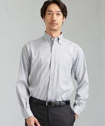 SLIM E/I ギンガムチェック ボタンダウン シャツ < 機能性 / イージーアイロン >