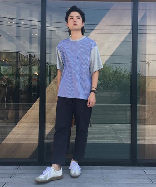 koe(コエ)の「前身切替ポケット付きTシャツ(Tシャツ/カットソー)」|杢グレー